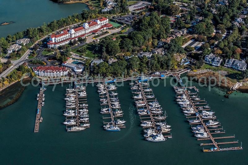 Birds Eye View of the Wentworth Hotel and Marina.