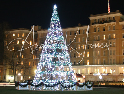 Lighting of the Christmas lights at the French Lick Springs Resort and Casino.