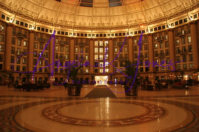 Evening photograph of the West Baden Springs Hotel Dome during our stay at the pre-opening in May 2007.
