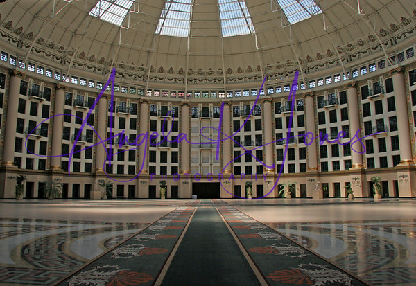The Dome of the West Baden Springs Hotel during the tour era before it's grand opening.  This picture was taken on a bright summer day in July 2005.