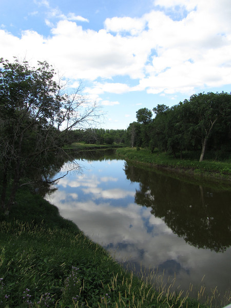 Reflection of Clouds in Lasalle River