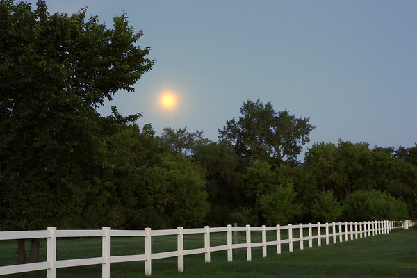 White Fence in Moonlight