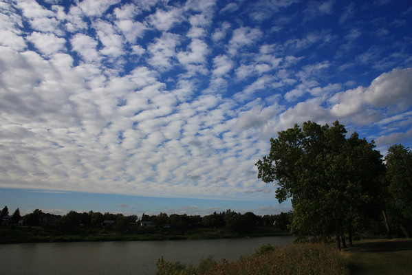 Wispy Clouds Over Red River