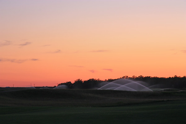 Sprinklers at Twilight