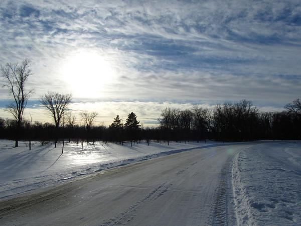 Sun on Snow, Crescent Drive Park
