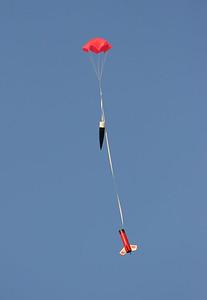 Chris Deem's NCR Big Brute descends under parachute.  Photo by Greg Smith.