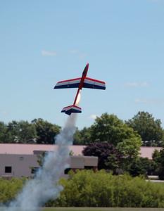 Dave Harris' Aerotech Phoenix radio-controlled rocket glider lifts off.  Photo by Alan Carroll.