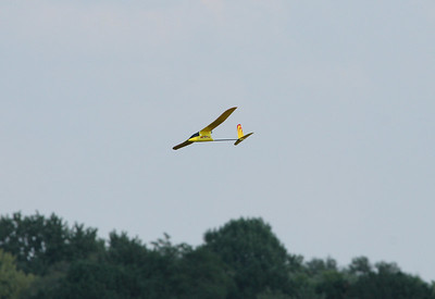 Two different radio controlled airplanes visited the launch site while we were flying.  Photo by Greg Smith