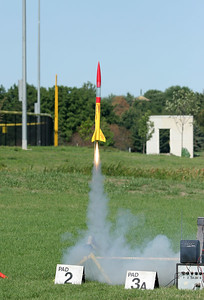 Brian Smith's Rising Star makes a second successful liftoff.  Photo by Greg Smith