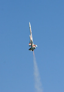 Greg Smith's Estes Orbital Transport ascends gracefully with a C6-3 motor.  Photo by Greg Smith
