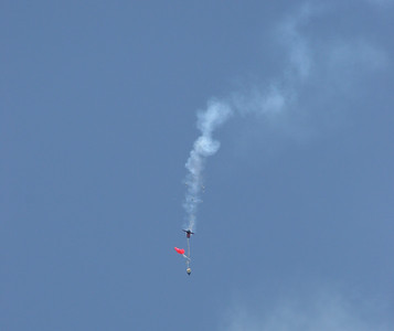 Chris Deem's Big Brute ejects its parachute.  Photo by Greg Smith