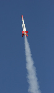 All engines thrusting, the BATFE Special heads for the sky.  Photo by Greg Smith