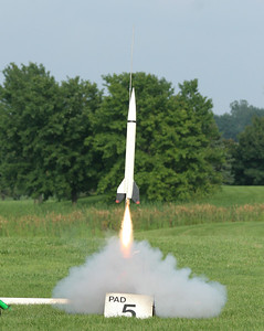 Christopher Deem's scale model of the Convair MX-774 missile.  Photo by Greg Smith