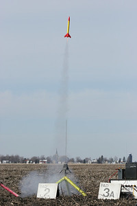 Flying was not limited to only large rockets.  Photo by Greg Smith