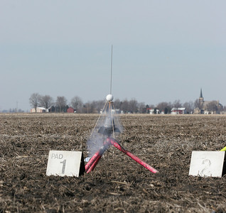 Ignition of Jeff Deem's BecTec Spootnik.  Photo by Greg Smith