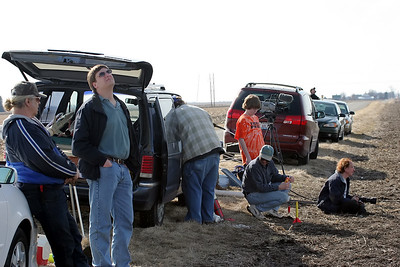 A picture of the few participants on what turned out to be an excellent day for flying.  Photo by Kevin Trueblood