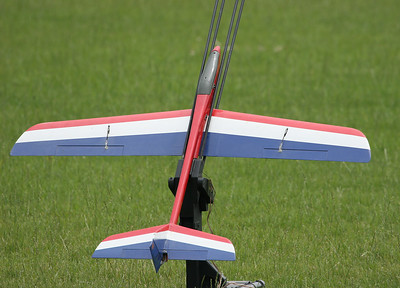 Dave Harris' Aerotech Phoenix radio-controlled rocket glider before flight.    Photo by Greg Smith