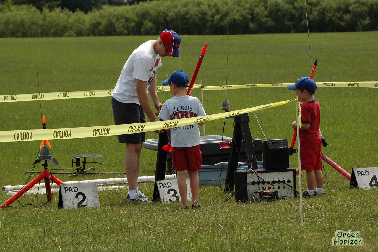 Young flyers set up Photo: Alan M. Carroll