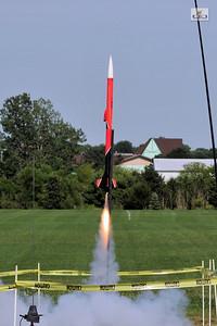 Greg Smith's video rocket. Photo by Alan M. Carroll