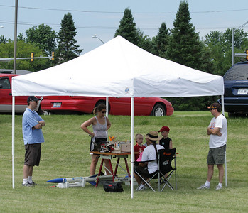 One of several spectator shelters in the prep area.  Photo by Greg Smith