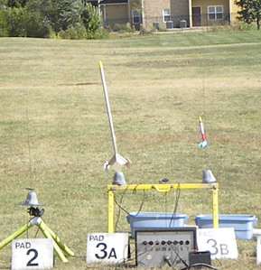 This is the No Name rocket that Mike Zaborowski built at GARLO 2012 for the build a rocket at GARLO contest. photo by Christopher Brian Deem