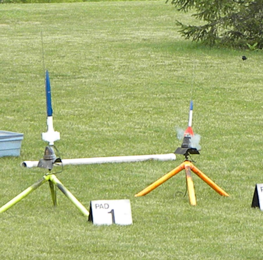 One of the Make-It -Take it rockets we gave to first time fliers. Mike and Shelia Zaborowski built 24 of them.photo by Christopher Brian Deem