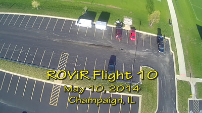 "Tenth flight of the ROViR (Rocket Onboard VIdeo Recorder) model rocket payload system, May 10, 2014 at Dodds Park in Champaign, Illinois. Components included the 2.1"" diameter Helios-3 booster rocket, the ROViR-2 payload container with a Replay XD 1080 camcorder, and an Aerotech G80-7 motor. On this flight, two 18"" X-form parachutes were used on the payload section to see if this improves the stability of the video during descent.  The video has been slowed to half of actual speed for more comfortable viewing. Video by Greg Smith"