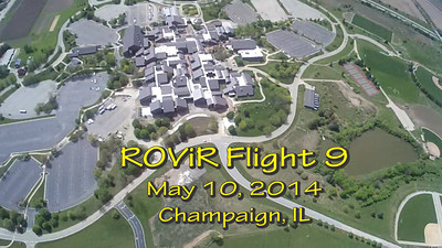"Ninth flight of the ROViR (Rocket Onboard VIdeo Recorder) model rocket payload system, May 10, 2014 at Dodds Park in Champaign, Illinois. Components included the 2.1"" diameter Sunspot 57 booster rocket, the ROViR-1 payload container with a Replay XD 1080 camcorder, and an Aerotech G125-8 motor. On this flight, two 18"" X-form parachutes were used on the payload section to see if this improves the stability of the video during descent. The video has been slowed to half of actual speed for more comfortable viewing. Video by Greg Smith"