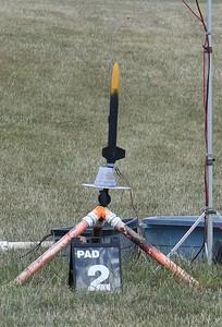 John Hall's scratch built rocket on an E9.