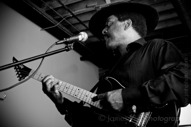 Cool John Ferguson jamming at West Village, in Durham, NC at one of the Warehouse Blues concerts, sponsored by the Music Maker Relief Foundation.     Cool John - 3103.jpg