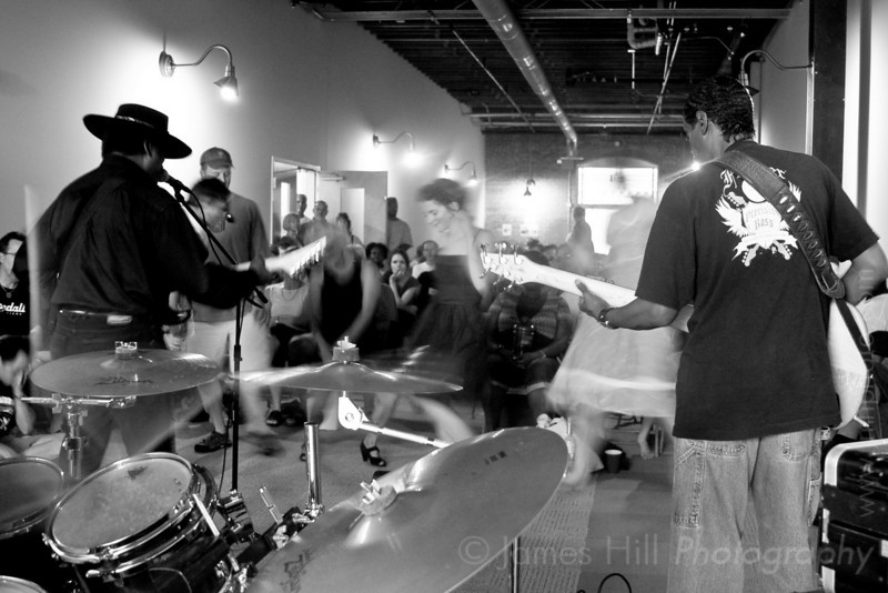 Cool John Ferguson jamming at West Village, in Durham, NC at one of the Warehouse Blues concerts, sponsored by the Music Maker Relief Foundation.     Cool John - 3139.jpg