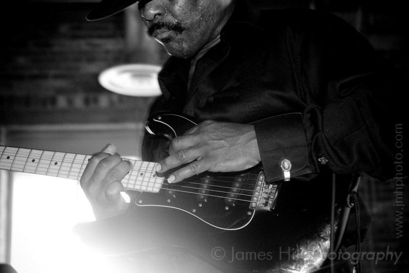 Cool John Ferguson jamming at West Village, in Durham, NC at one of the Warehouse Blues concerts, sponsored by the Music Maker Relief Foundation.     Cool John - 3118.jpg