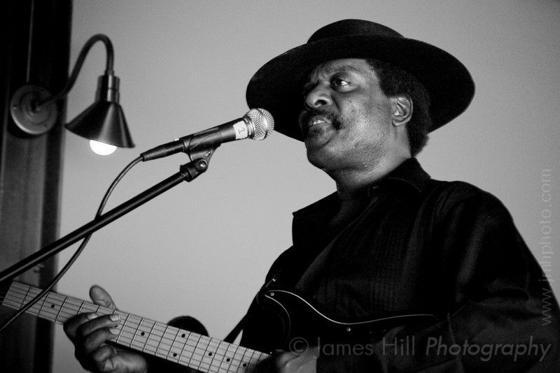 Cool John Ferguson jamming at West Village, in Durham, NC at one of the Warehouse Blues concerts, sponsored by the Music Maker Relief Foundation.     Cool John - 3021.jpg
