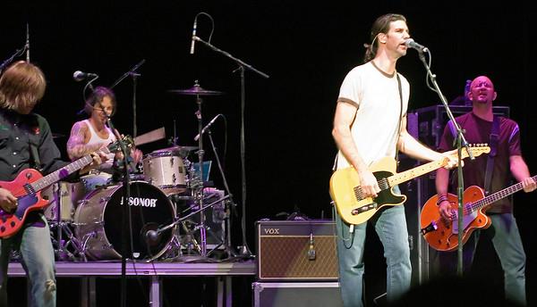 Rob James, lead guitar and vocals, Dave Minarik Jr, drums and vocals, Scatt Blasey guitar and vocals; Greg Joseph, bass guitar and vocals; The Clarks