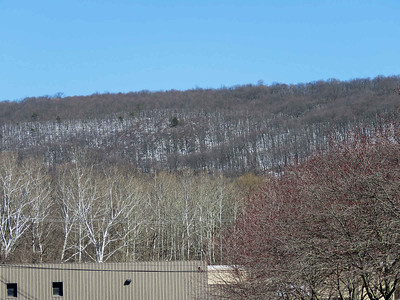 snow on the hillside, March 26, 2018