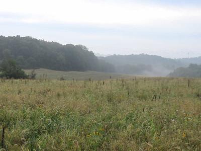 mist rising from the fields, September 27, 2016