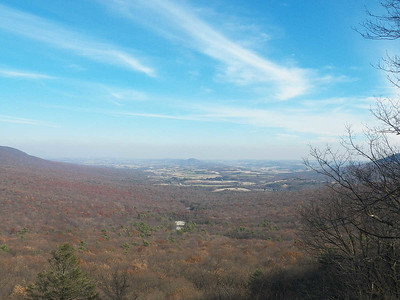 view from Hawk Mountain's South Lookout, November 16, 2013