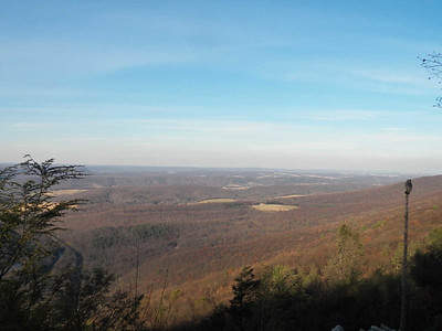 view from  Hawk Mountain's North Lookout, November 16, 2013