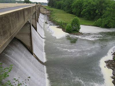 Lake Ontelaunee dam, June 10, 2018