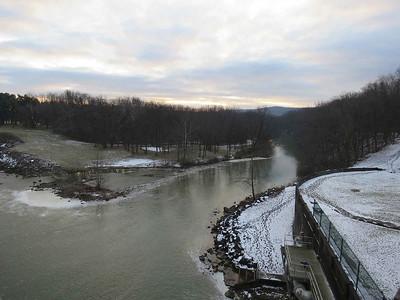 the Maiden Creek just below the Lake Ontelaunee Dam, January 21, 2018
