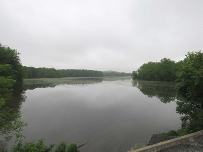 view of the lake from Bailey's Creek, May 31, 2017