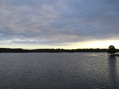 view from the dam, not long after sunrise, October 5, 2018