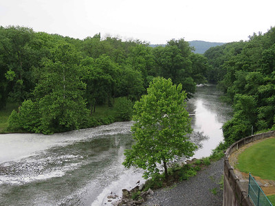 the Maiden Creek, just below the dam breast, June 10, 2018