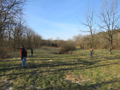 birders at the  Peter's Creek spring, January 15, 2017