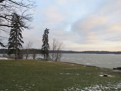 Lake Ontelaunee covered in ice, January 21, 2018