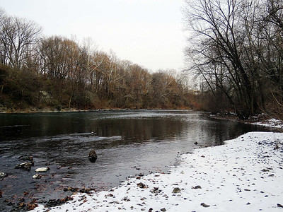 the Schuylkill River just above the Tulpehocken Creek confluence, Reading, December 17, 2017