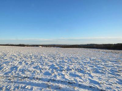 snowy fields, December 31, 2017