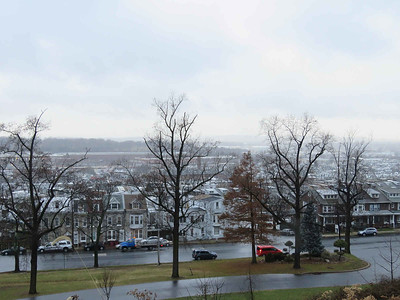 view from Hampton Park in miserable weather, December 16, 2018