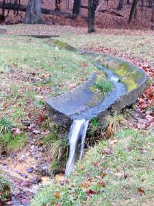 flowing spring water, Hampton Park, December 16, 2018