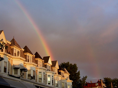 two rainbows, June 17, 2008